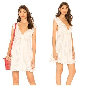 New Free People Cactus Flowers Mini Dress in Cream